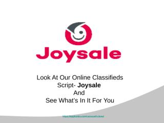 See what we have for you in our online classifieds script.pptx