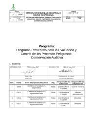 DES-SIHO-PR-104 PLANES Y PROGRAMAS DE CONSERVACION AUDITIVA.doc