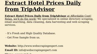 Extract Hotel Prices Daily from TripAdvisor.pptx