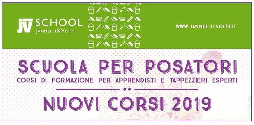Jannelli e Volpi School - Scuola per posatori corsi di formazione per apprendisti e tappezzieri esperti - Nuovi corsi 2019