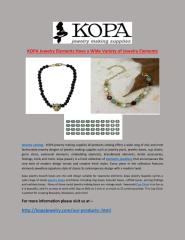 KOPA_Jewelry_Elements_Have_A_Wide_Variety_of_Jewelry_Elements.PDF