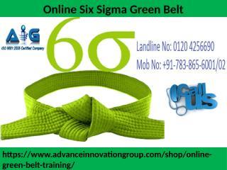 Online Six Sigma Green Belt.pptx