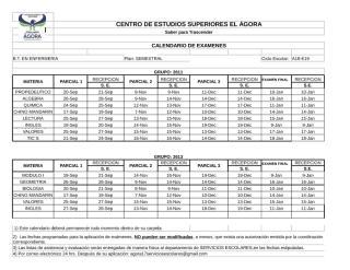 CALENDARIO EXAMENES A-E 18 CUATRIMESTRAL CORRECTO.xlsx
